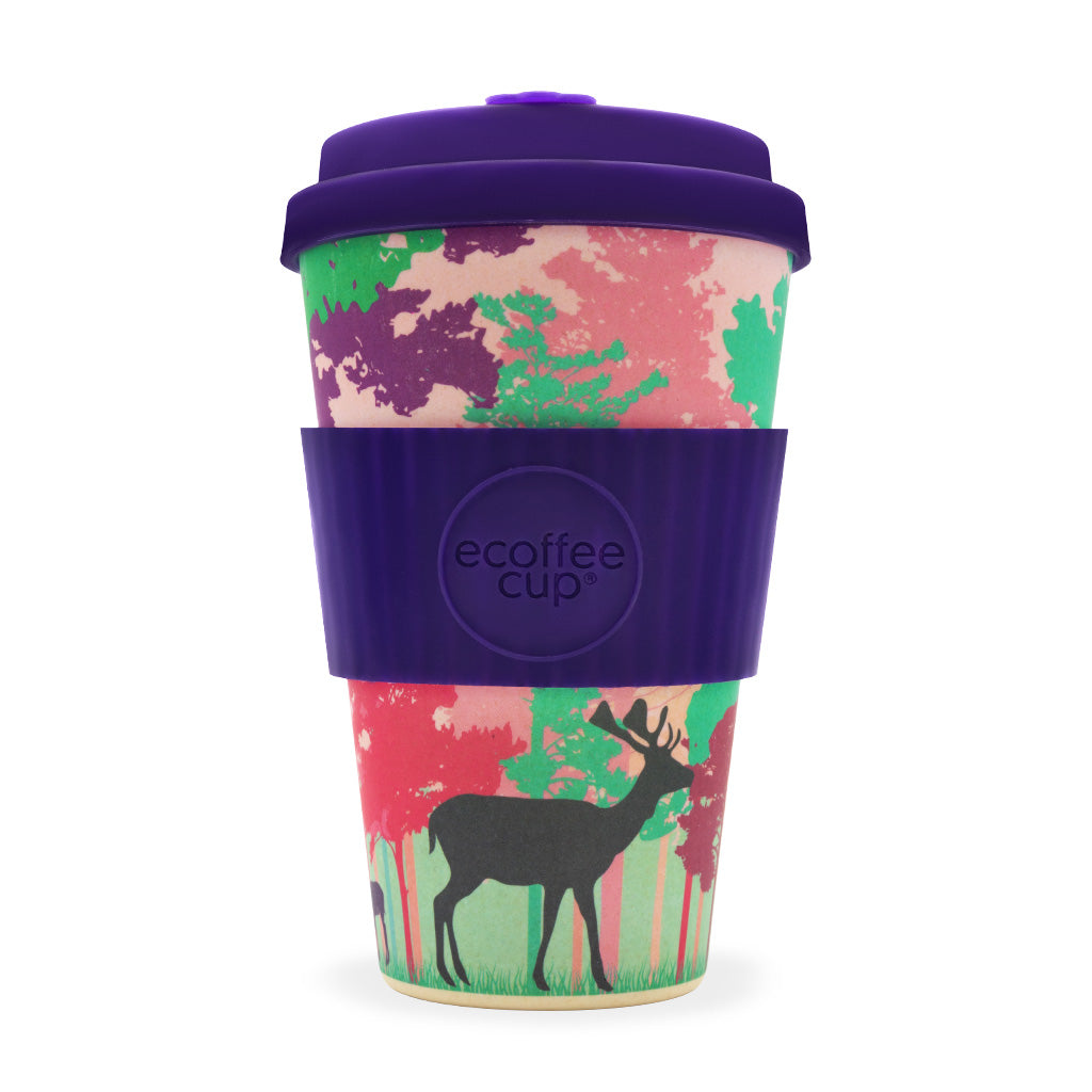 Reusable Bamboo Ecoffee Cup - Frankly My Deer 14oz