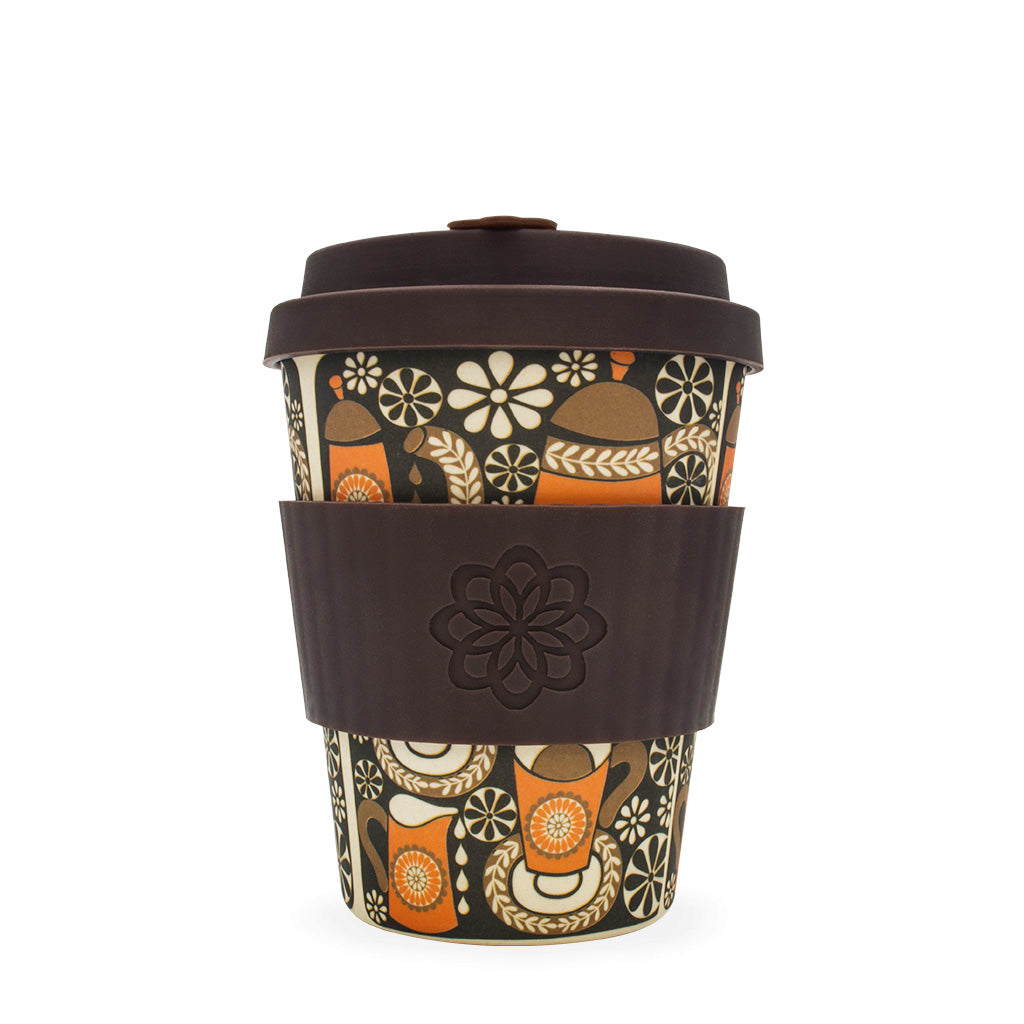 Reusable Bamboo Ecoffee Cup - Limited Edition Morning Coffee 12oz 340ml