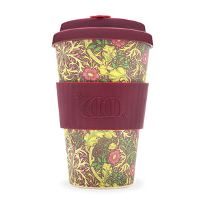 Reusable Bamboo Ecoffee Cup - William Morris Seaweed 14oz
