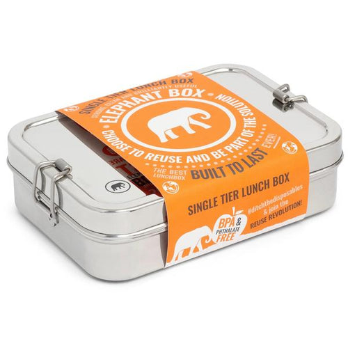 Single Tier Lunch Box - Elephant Box