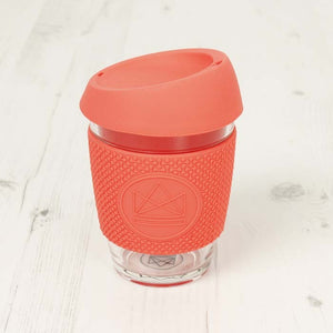 Reusable Glass Coffee Cup - Dream Believer Coral