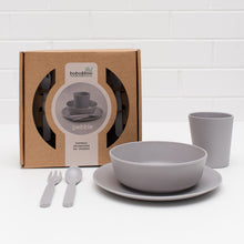 Bobo & Boo Bamboo Dinner Set -Pebble Grey