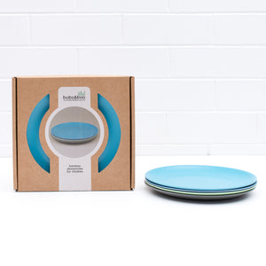 Bobo & Boo Bamboo Plate Set -Coastal Blues
