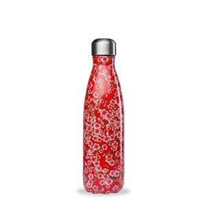 Insulated Stainless Steel Water Bottle - Flowers Red - Qwetch