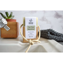 Soap Daze - Tea Tree and Spirulina Extra Large Soap On A Rope
