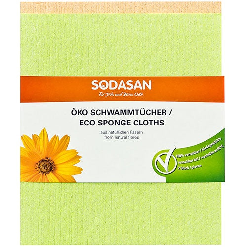 Eco Sponge Cleaning Cloths - Sodasan
