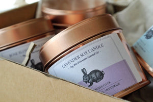 Lavender Soy Candle -Vegan Bunny