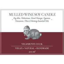 Mulled Wine Soy Candle -Vegan Bunny