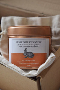 Pumpkin Pie Soy Candle -Vegan Bunny