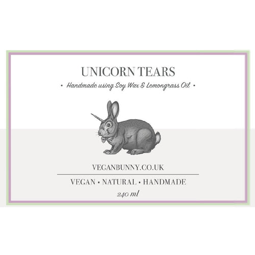 Unicorn Tears Soy Candle -Vegan Bunny