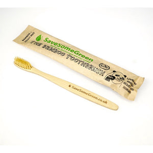 Bamboo Toothbrush Medium - Adult Save Some Green
