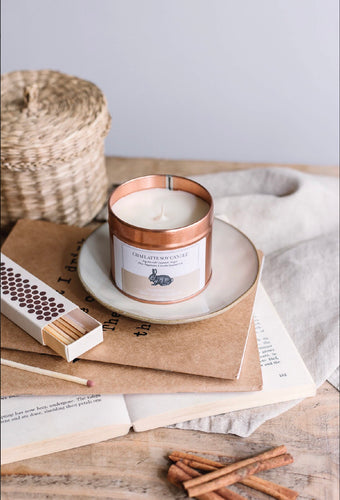 Chai Latte Soy Candle -Vegan Bunny