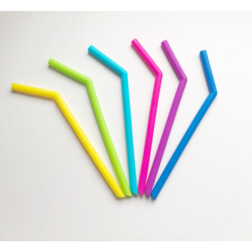 Silicone Smoothie Straws -Single