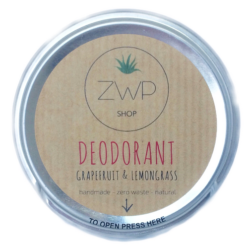 Grapefruit & Lemongrass Deodorant - Zero Waste Path