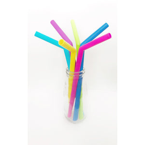 Silicone Smoothie Straws - Pack of Six