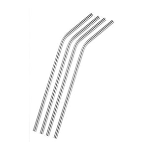 Stainless Steel Reusable Straws - Pack of 4