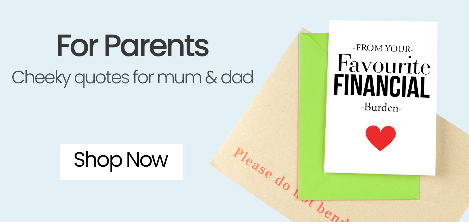 Greeting Cards For Mums And Dads