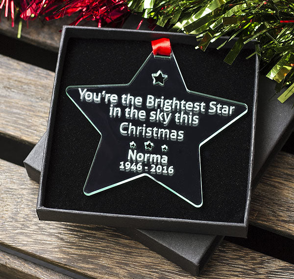 You're The Brightest Star This Christmas - Gift Star