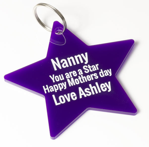 Nanny You Are A Star Mothers Day Keyring