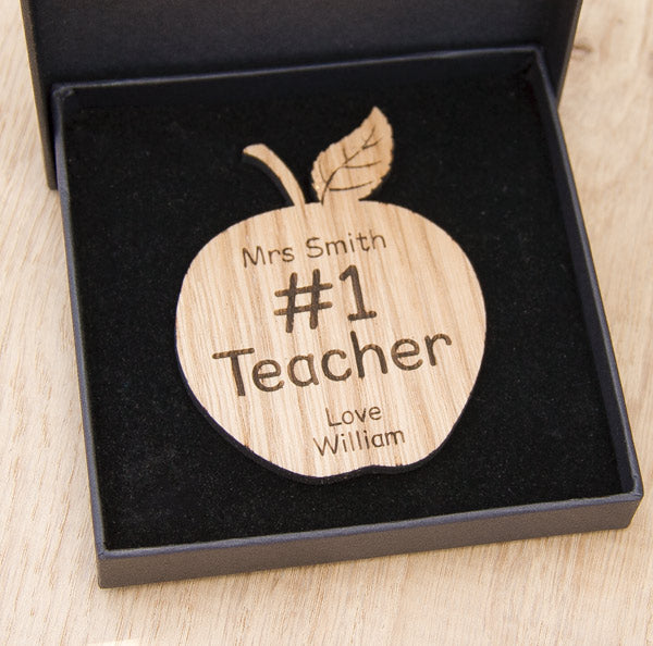 Number One Teacher Oak Apple Gift