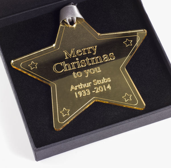 Merry christmas to you star - Mirror gold