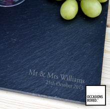 Load image into Gallery viewer, Engraved Slate Cheese Board 29cm