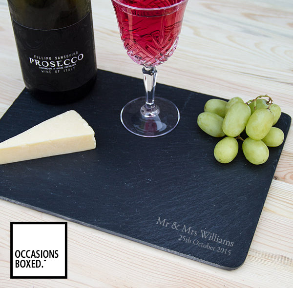Engraved Slate Cheese Board 29cm