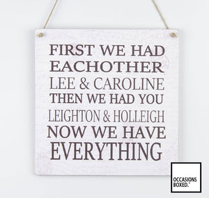 First We Had Each Other 1