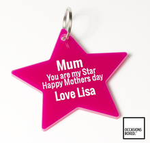 Load image into Gallery viewer, Mum You Are A Star Mothers Day Keyring