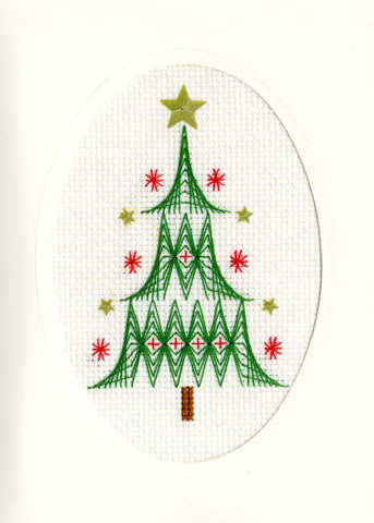 Christmas Tree cross stitch card kit by bothy threads