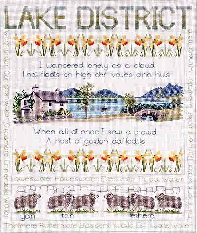 Lake District Sampler Cross Stitch Kit by Derwentwater Designs