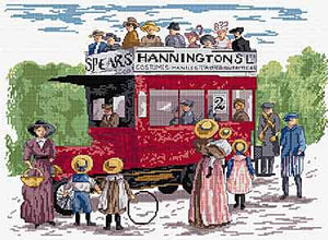 Bus in the Park All Our Yesterdays Cross Stitch Kit by Faye Whittaker
