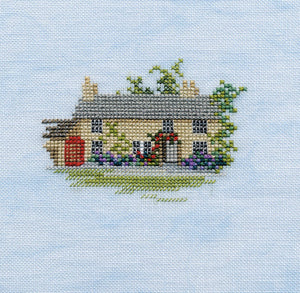 Rose Cottage Cross Stitch Kit by Derwentwater Designs