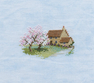 Orchard Cottage Cross Stitch Kit by Derwentwater Designs
