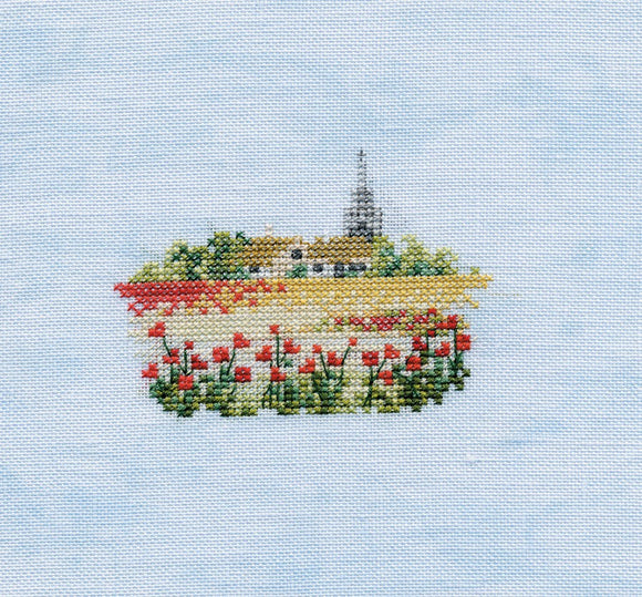 Poppyfield Cross Stitch Kit by Derwentwater Designs