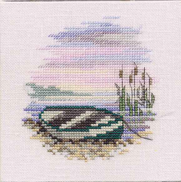 Rowing Boat Cross Stitch Kit by Derwentwater Designs