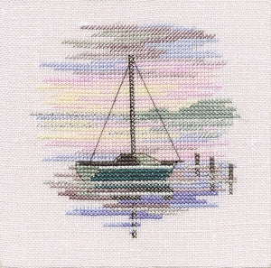 Sailing Boat Cross Stitch Kit by Derwentwater Designs