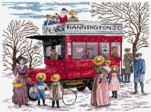 Christmas Bus All Our Yesterdays Cross Stitch Kit by Faye Whittaker