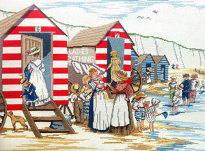 Ladies Bathing Huts All Our Yesterdays Cross Stitch Kit by Faye Whittaker
