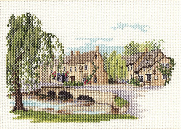Bourton on the Water Cross Stitch Kit by Derwentwater Designs