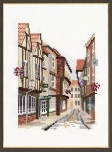 Shambles Cross Stitch Kit by Derwentwater Designs