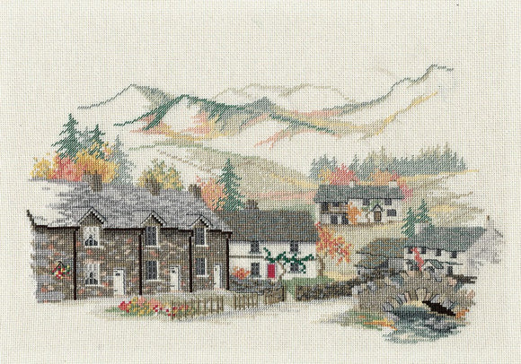 Cumbrian Village Cross Stitch Kit by Derwentwater Designs