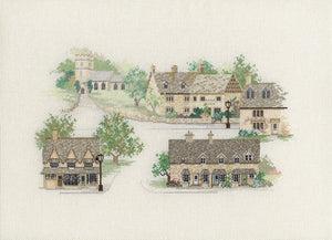 Cotswold Village Cross Stitch Kit by Derwentwater Designs