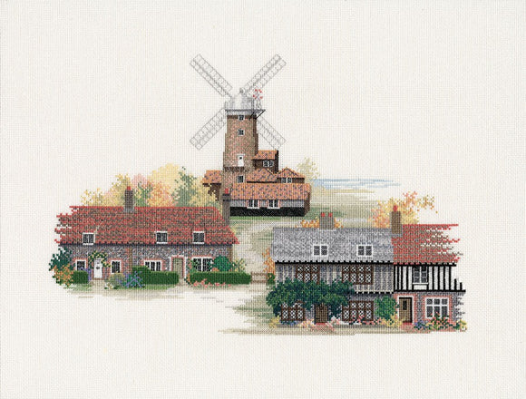 Norfolk Village Cross Stitch Kit by Derwentwater Designs