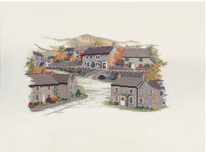 Derbyshire Village Cross Stitch Kit by Derwentwater Designs