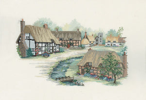 Hampshire Village Cross Stitch Kit by Derwentwater Designs