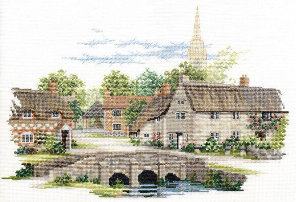 Wiltshire Village Cross Stitch Kit by Derwentwater Designs
