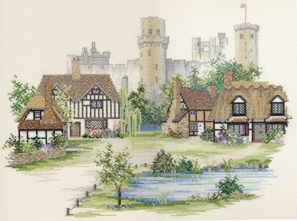 Warwickshire Village Cross Stitch Kit by Derwentwater Designs