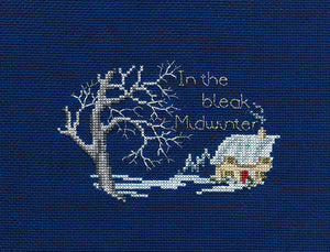Midwinter Cross Stitch Christmas Card Kit by Derwentwater Designs