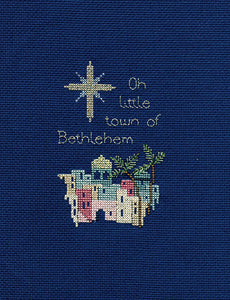 Bethlehem Cross Stitch Christmas Card Kit by Derwentwater Designs